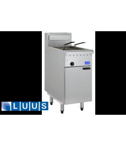 LUUS Gas Fryer, single pan twin baskets
