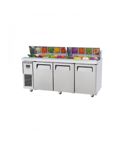 SKIPIO, Salad Side Prep Table, Hood Lid, 1800mm, 3 Door
