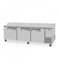 SKIPIO, Pizza Prep Table, 878L, 3 Door