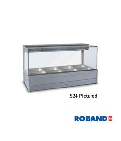 Square glass hot foodbar