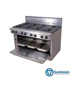 8 Gas Burner Range Oven