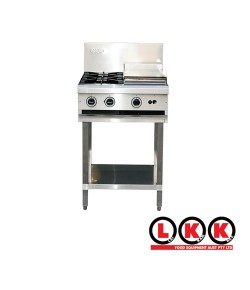 2 Gas Open Burner Cooktop + 300 Right Grill