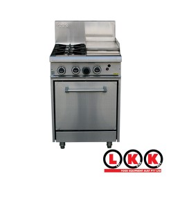 2 Gas Open Burner Cooktop & 300mm Right Grill Oven Range