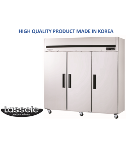 Lassele Upright Fridge, 3 Door, 1921Litre