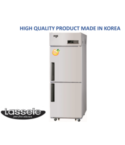Lassele Upright Fridge, 2 Half Door, 505Litre