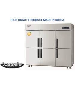 Lassele Upright Fridge+Freezer, 6 Half Door, 1663Litre