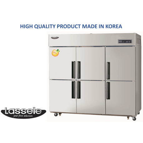 Upright Fridge+Freezer, 6 Half Door, 1663Litre