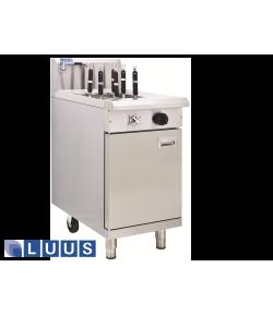 LUUS Noodle Cookers - Single tank, 4 baskets 1 x 8L soup
