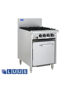 LUUS 600mm Wide Ovens, 4 burners & oven