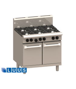 LUUS 900mm Wide Ovens, 6 burners & oven