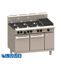 LUUS 1200mm Wide Ovens, 8 burners & oven