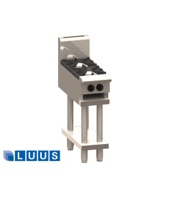 LUUS 300mm Wide Cooktops, 2 burners & shelf