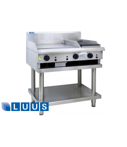 LUUS 1200mm Wide Grill and Chargrill, 900 grill & 300 char
