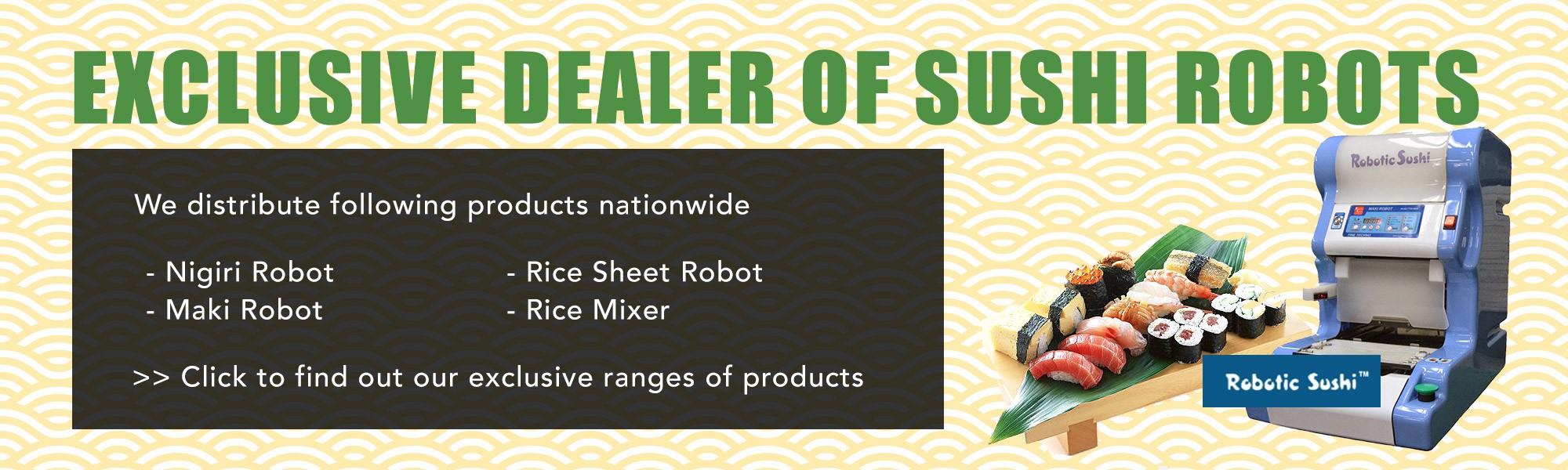 Sushi Robot Banner